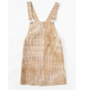 SHEIN Detachable Strap Gingham Pinafore Dress